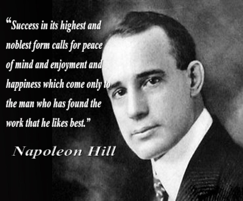 Napoleon Hill Happiness Quote